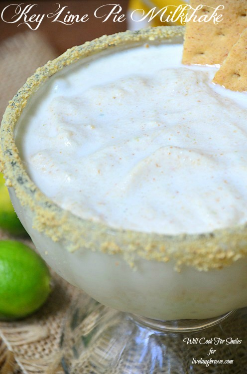 Key-Lime-Pie-Milkshake 4 willcookforsmiles.com