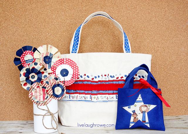 Patriotic Tote Bags with livelaughrowe.com