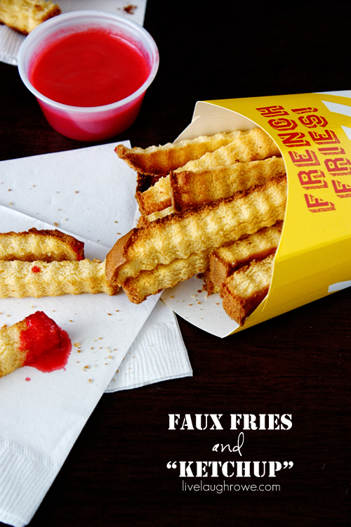 """Faux Fries and """"Ketchup"""" with livelaughrowe.com"""