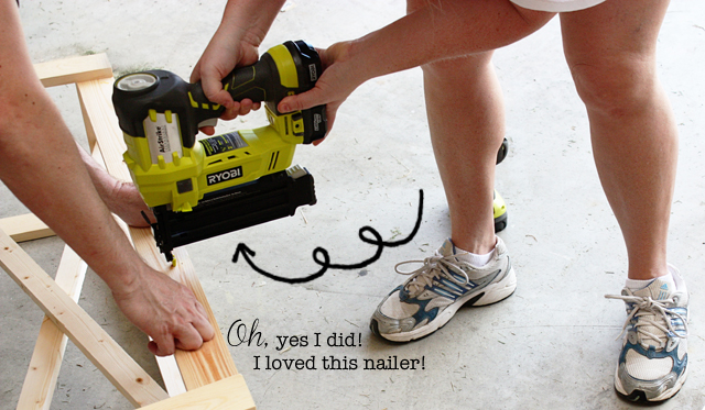 Kelly using power tools!  WooHoo!