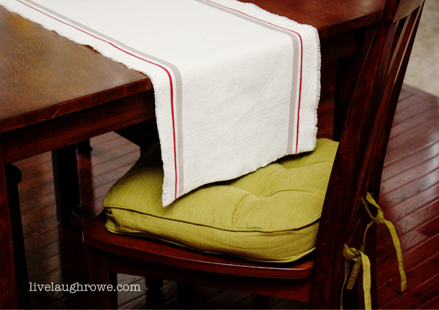 Stenciled Drop Cloth Runner with livelaughrowe.com
