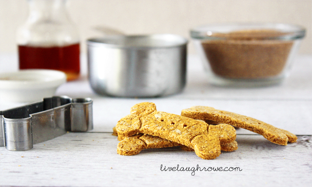 Delicious Pumpkin and Peanut Butter Dog Treats with livelaughrowe.com