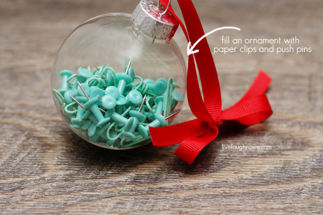 An ornament for Office Supply Lovers!! livelaughrowe.com