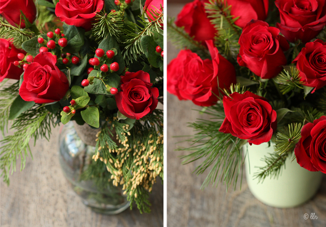 Gorgeous Holiday Floral Arranging Tips and Arrangements with livelaughrowe.com