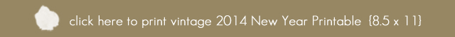 Vintage 2014 Happy New Year