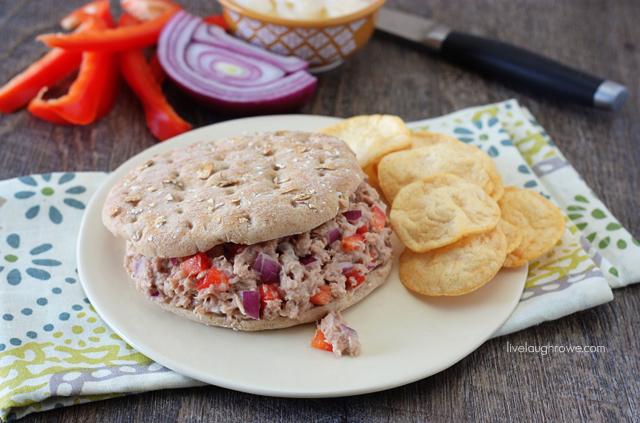 Skinny Tuna Sandwich with livelaughrowe.com #weightwatchers