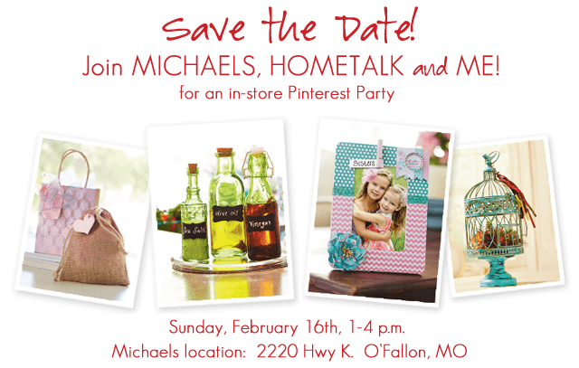 Save the Date! February 2014 Pinterest Party