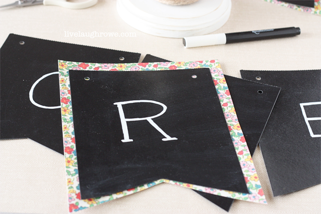prepare pennants for hanging