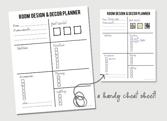 Room Design and Decor Planner. Free Printable with livelaughrowe.com