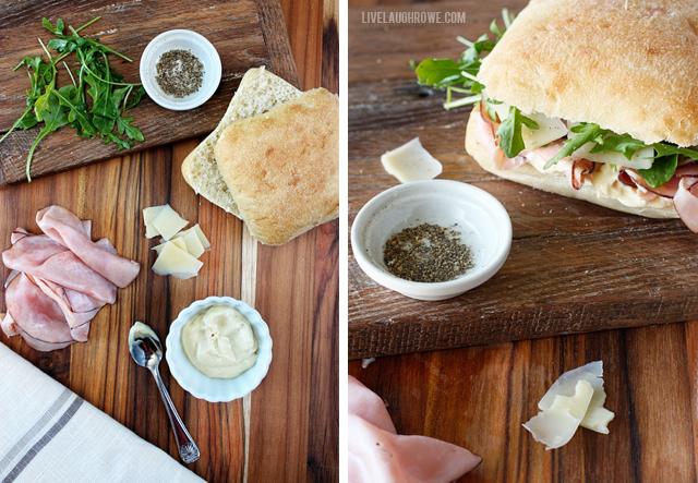 Ham and Arugula Sandwich