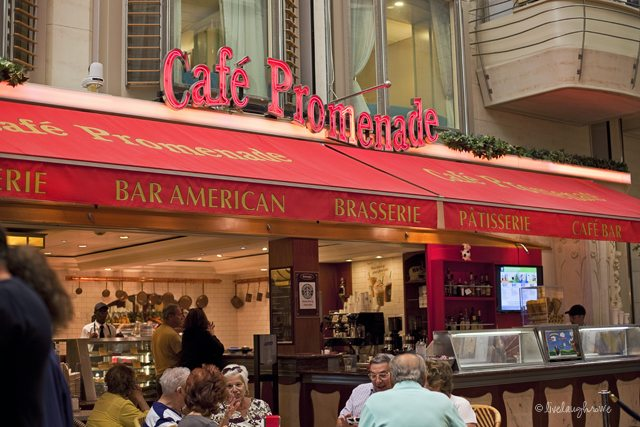 Cafe Promenade.  Free food 24 hours a day