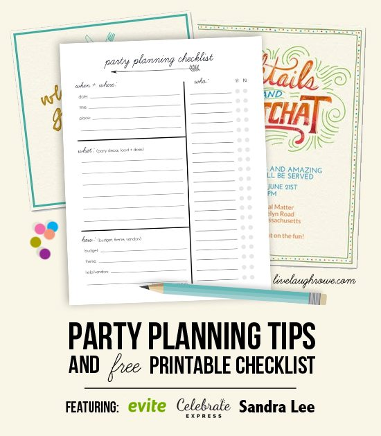 Party Planning Tips and Printable Checklist with livelaughrowe.com