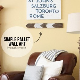 Simple Pallet Wall Art