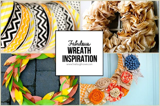 Wreath Inspiration features -- fall, autumn and Halloween.