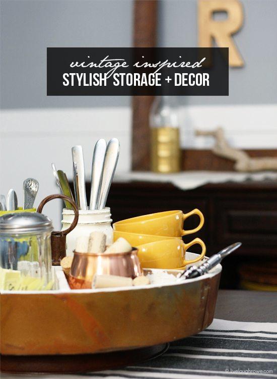 Vintage Inspired Stylish Storage and Decor