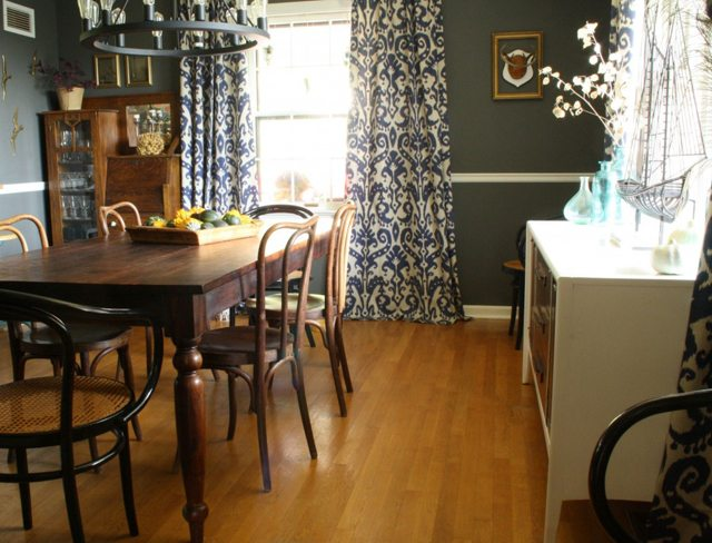 Dark and Neutral Dining Room