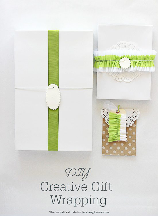 DIY Creative Wrapping by The Casual Craftlete by www.livelaughrowe.com
