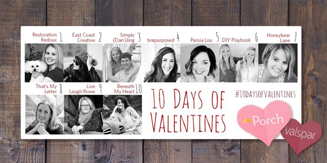 10 Days of Valentines. DIY Abstract Heart Art and Rustic Frame - Live Laugh Rowe