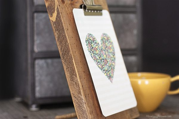 Rustic DIY Wooden Clipboard Frame. Clipboard Picture Frame .