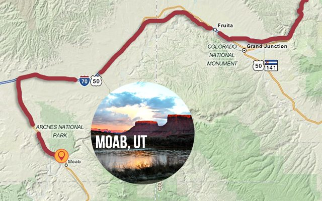 First stop on our Road Trip to the Mountain States - Moab, UT. livelaughrow.com #gorving #ad
