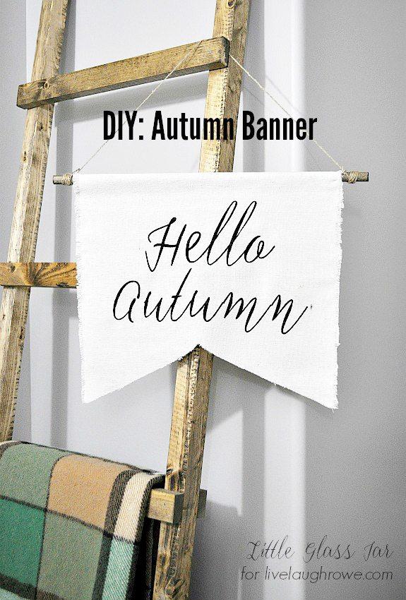 DIY Autumn Banner