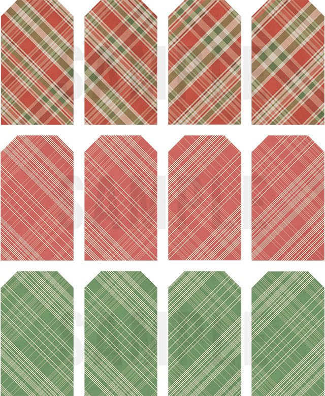 Darling -- and right on trend! FREE Plaid Printable Christmas Gift Tags to add a little extra charm to you holiday gifting. livelaughrowe.com