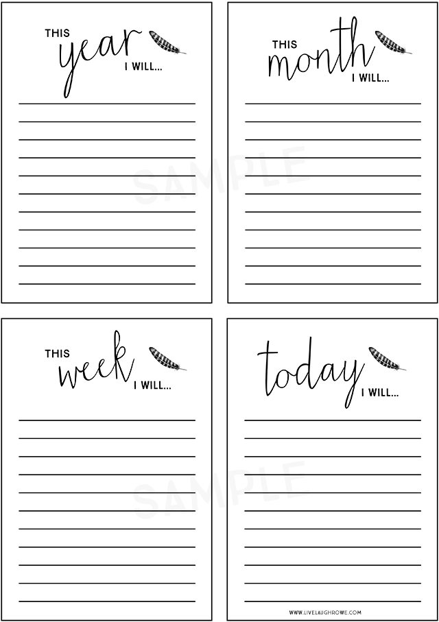 Planner Printable Day 7