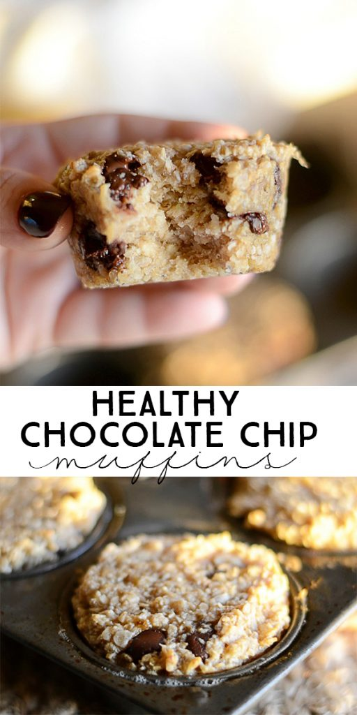 Healthy Chocolate Chip Muffins.