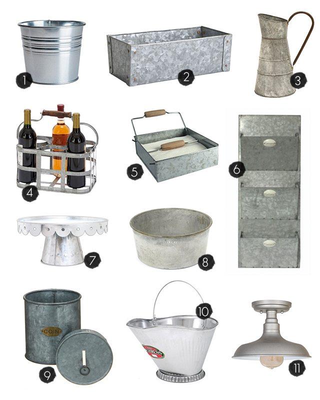 Galvanized Home Decor and Storage Ideas to inspire you! livelaughrowe.com