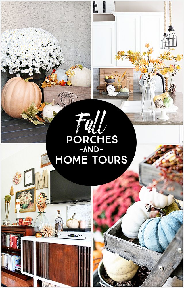 Fall Porches and Home Tours to inspire you!  Eight fabulous features at Inspiration2 linky party.  livelaughrowe.com
