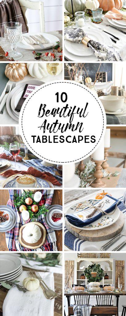 10 beautiful autuman tablescapes! livelaughrowe.com