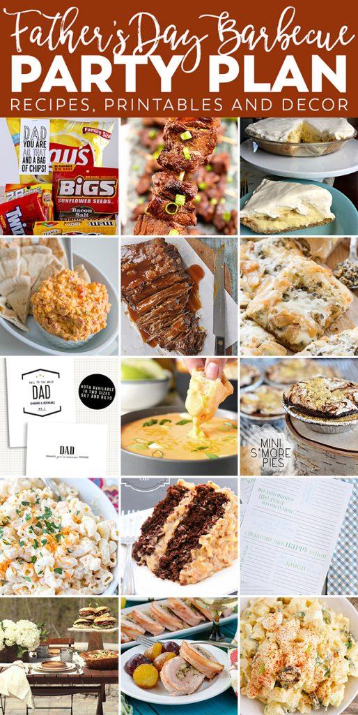 Father's Day BBQ Party Ideas -- from recipes to decor to printables! So much fabulous inspiration in one post! livelaughrowe.com