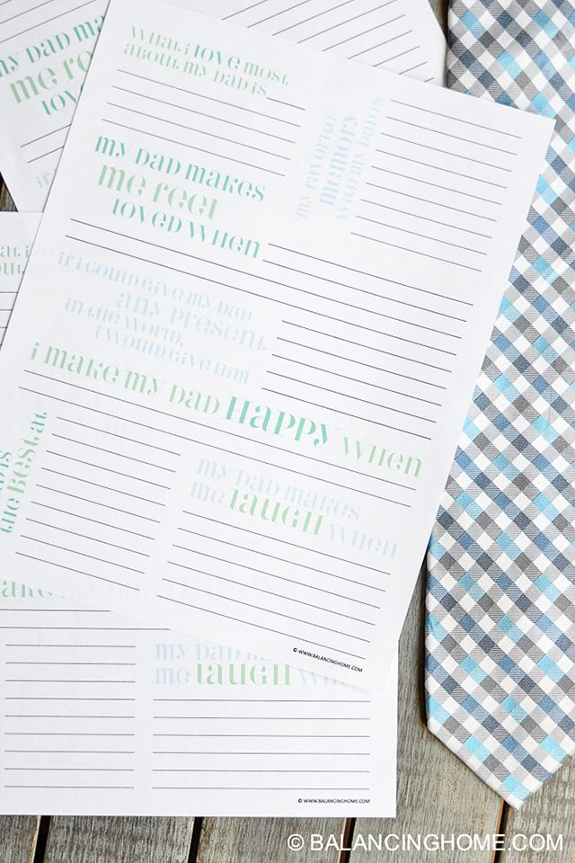 Fathers Day BBQ Party Ideas. Printable Questionnaire for Dads.