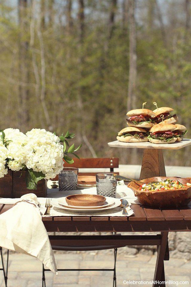 Father's Day BBQ Party Ideas. Al Fresco Dinner.