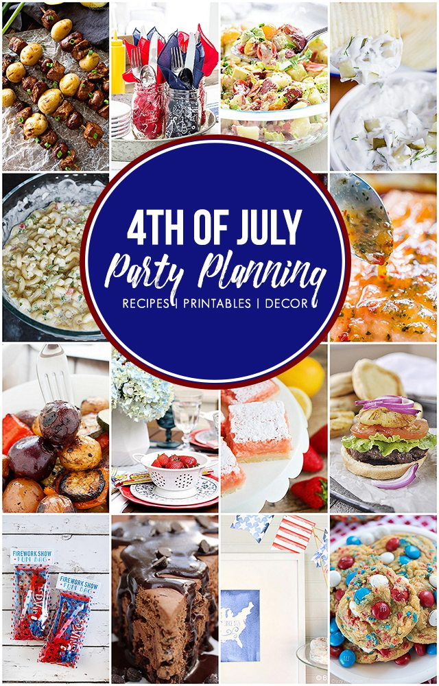 Delicious 4th of July Menu Ideas along with printables and table decor inspiration! livelaughrowe.com