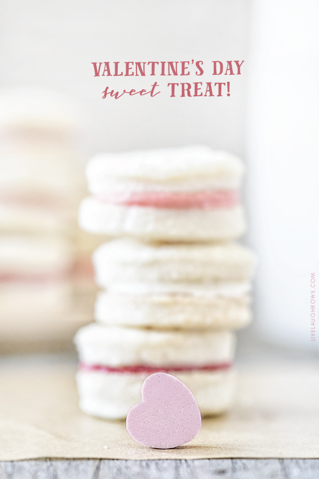 Meet your new favorite cookie! This Cream Wafer Cookie Recipe is packed with sweet, buttery crunchy goodness. Make the frosting with different colors for holidays and special events... like these with pink and red filling for the perfect Valentine's Day dessert! Recipe at livelaughrowe.com