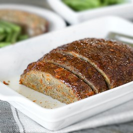 A healthy meatloaf recipe that is packed with carrots, keeping this turkey meatloaf light and tender! This Weight Watchers meatloaf is 1 SmartPoint per piece, serving 8. Find the recipe at livelaughrowe.com