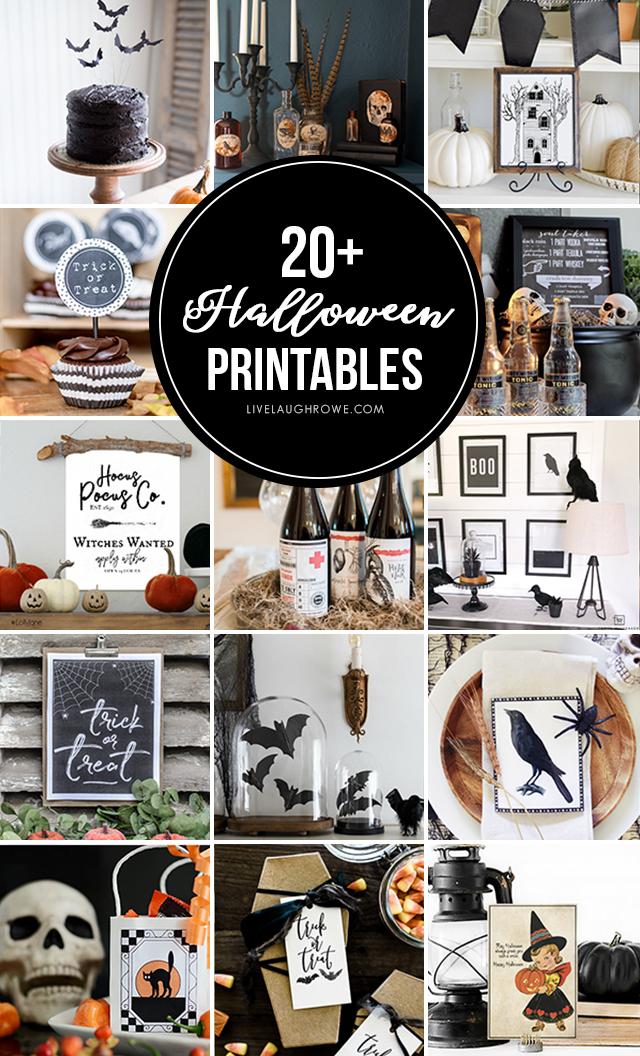 20+ FREE Halloween Printables!! livelaughrowe.com
