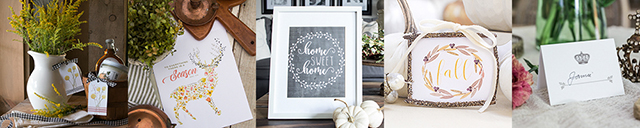 25+ Fabulous Fall Printables -- from gift tags to place setting cards to a pumpkin spice printable with the recipe on it! You're sure to find a few new favorites. livelaughrowe.com