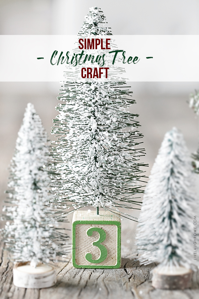 Turn the base of a bottle brush or sisal tree from drab to fab with this simple Christmas Tree Craft inspiration. Learn more at livelaughrowe.com