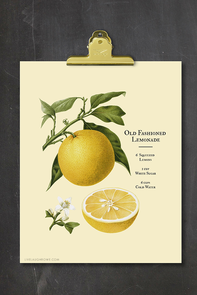 If this Old Fashioned Lemonade Printable doesn't say Summer, I don't know what does! I love the vintage simplicity too. Print yours at livelaughrowe.com