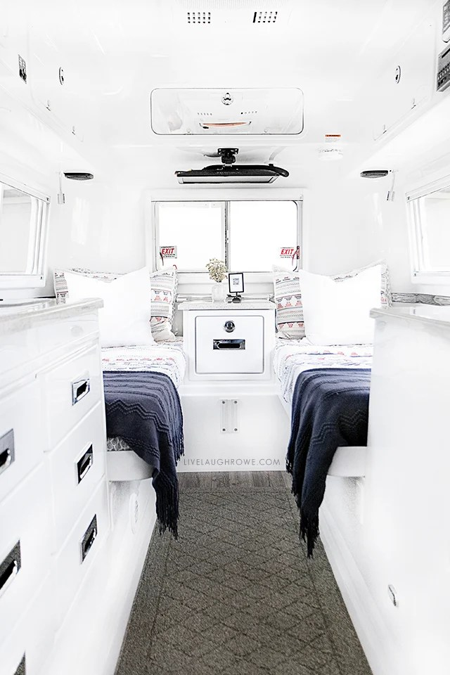 Take a look inside our Oliver Travel Trailer, a high quality fiberglass trailer that we recently purchased! It's built for use in all four seasons as well. More at livelaughrowe.com