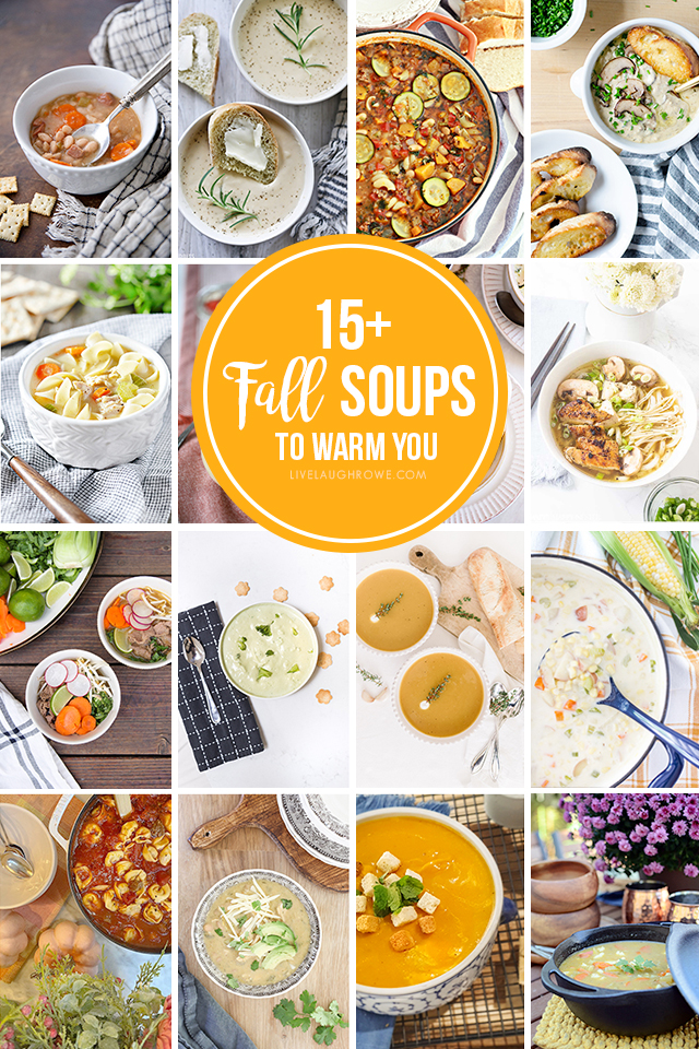 Collage of Soup Pictures. Crockpot Chicken Noodle Soup
