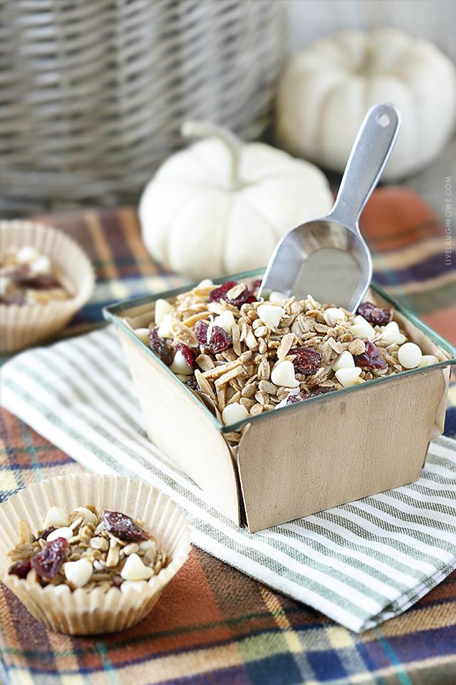 Granola Recipe with Scoop