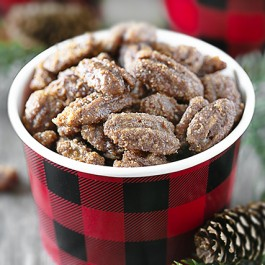 Snack Bowl of Slow Cooker Candied Pecans
