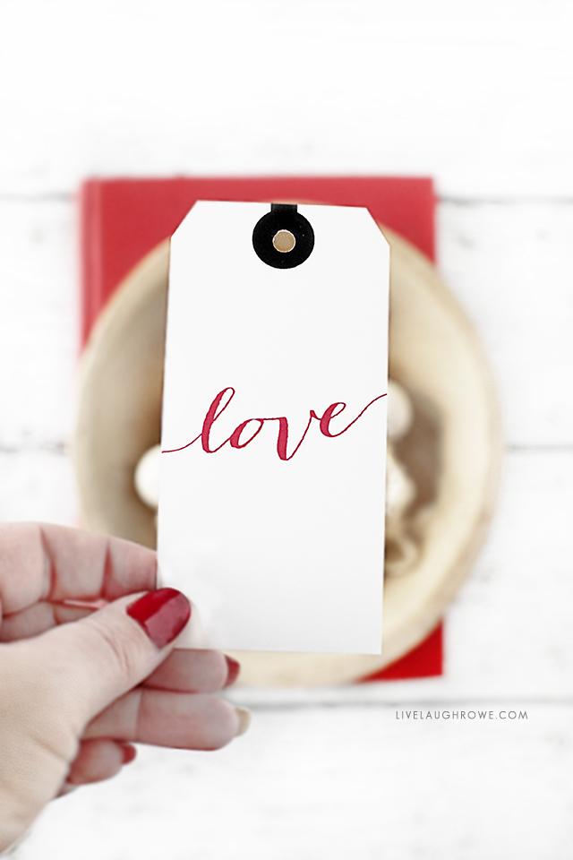 Script Love Gift Tag