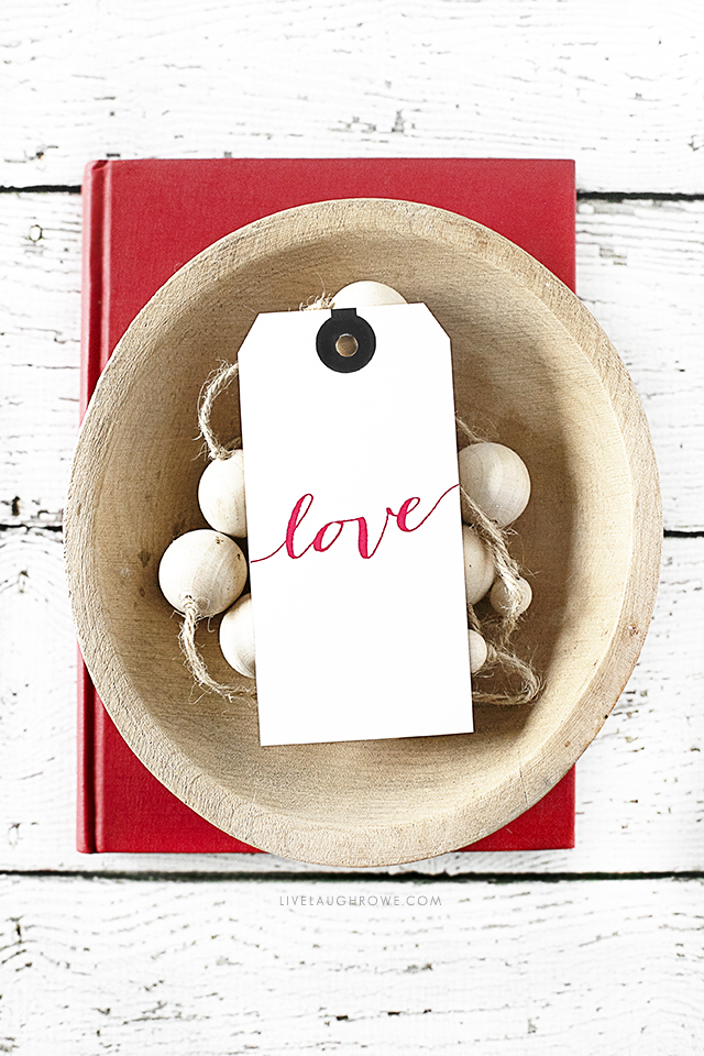 Styled Valentine's Day Gift Tag