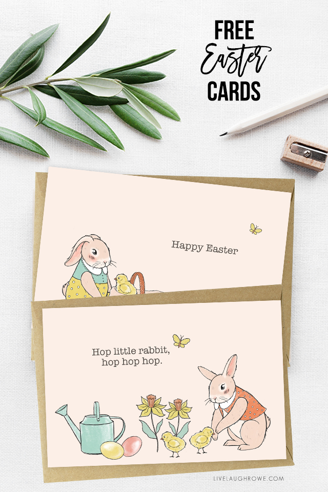 Two Free Easter Cards