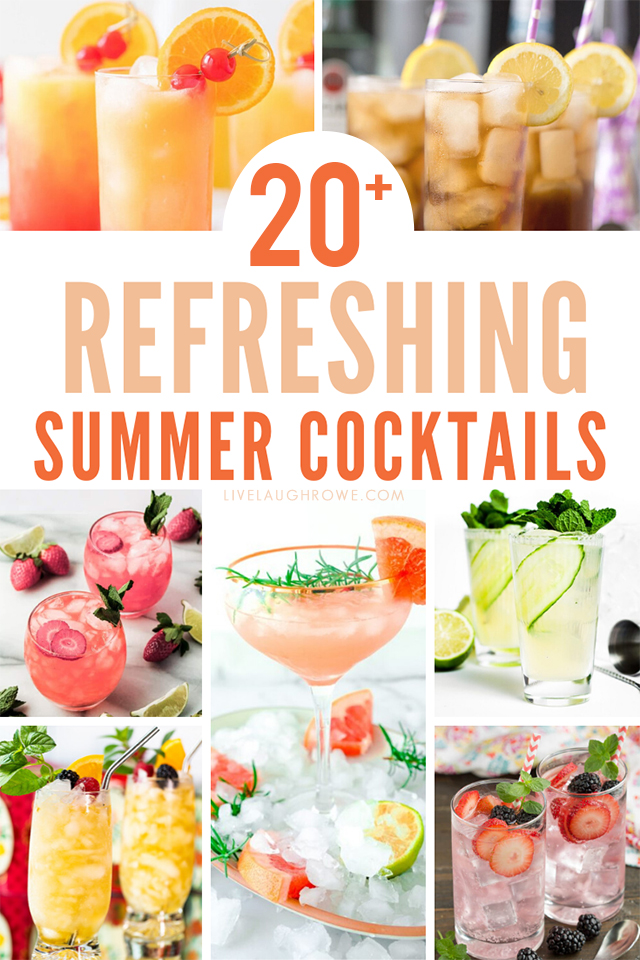 Refreshing Summer Cocktails Collage