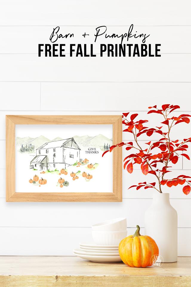 Psalm 118 Barn and Pumpkins Printable